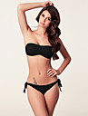 Dame Nailon Spandex Bustieră,Bikini Dantelat Solid