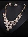 Pentru femei Seturi de bijuterii Imitație de Perle Ștras Lux de Mireasă Modă European Nuntă Petrecere Zi de Naștere Logodnă Zilnic Perle