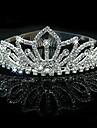 Mujer Diamantes Sinteticos Cristal Aleacion Celada-Boda Ocasion especial Tiaras 1 Pieza