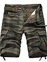 Bărbați Zvelt Larg Simplu Talie Medie Pantaloni Chinos Pantaloni Plisat