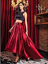 Linia -A Două Piese Bijuterie Asimetric Satin Stretch Bal / Seară Formală Rochie cu Mărgele de TS Couture®