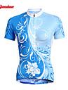 TASDAN Kadın\'s Kısa Kollu Bisiklet Forması Çiçek / Botanik Büyük Bedenler Bisiklet Forma Üstler Giysi Setleri Nefes Alabilir Hızlı Kuruma Ultravioleye Karşı Dayanıklı Spor Dalları %100 Polyester Da