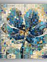 HANDMÅLAD Stilleben Fyrkantig, Moderna Duk Hang målad oljemålning Hem-dekoration En panel