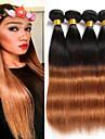 Brasilianskt hår Rak Hårförlängning av äkta hår 4pcs Luktfri Silkig Heta Försäljning Bästa kvalitet Naturlig Nyans Julklappar Jul Bröllop