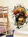 Djur Väggklistermärken Väggstickers i 3D Dekrativa Väggstickers, Vinyl Hem-dekoration vägg~~POS=TRUNC Vägg