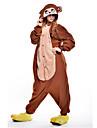 Pijama Kigurumi Maimuţă Pijama Întreagă Costume Lână polară Maro Cosplay Pentru Sleepwear Pentru Animale Desen animat Halloween Festival
