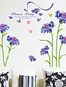 Autocolante de Perete Decorative - Autocolante perete plane Florale Sufragerie / Dormitor / Cameră de studiu / Birou