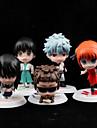 5pcs Gintama Sakata gintoki Katsura Kotarou Hijikata Toushirou takasugi Shinsuke Okita sougo PVC jucării figura