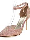 Pentru femei Pantofi Materiale Personalizate Primăvară / Vară Balerini Basic Toc Stilat Negru / Verde / Roz / Rochie