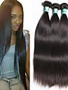 Human Hår vävar Peruanskt hår Ret 3 delar hår väver