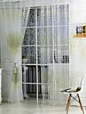 Stångficka En panel Fönster Behandling Land , Tryck Vardagsrum Polyester Material Skira Gardiner Shades Hem-dekoration