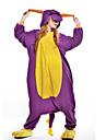 Pijama Kigurumi Dinosaur balaur Pijama Întreagă Costume Lână polară Mov Cosplay Pentru Adulți Sleepwear Pentru Animale Desen animat
