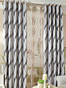 Deux Panneaux Le traitement de fenetre Moderne , Geometrique Salle de sejour Polyester Materiel Rideaux occultants rideauxDecoration