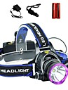 LS1792 Headlamps Headlight LED Cree® XM-L T6 1 Emitters 2000 lm 3 Mode with Batteries and Chargers Tactical Zoomable Waterproof Camping / Hiking / Caving Everyday Use Police / Military