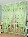 Canal pentru tijă Un Panou Tratamentul fereastră Țara Sufragerie Poliester Material Sheer Perdele Shades Pagina de decorare For Fereastră