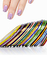 10 nagel konst Sticker Franska Tips Guide 3D Nagelstickers Abstrakt skönhet Kosmetisk nagel konst Design