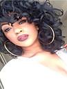 Syntetiskt hår peruker Lockigt Afro-amerikansk peruk Utan lock Naturlig peruk Mellan Svart