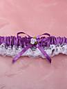 Jartieră Dantelă Poliester Floare Dantelă Violet