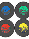 1buc roller-viniluri vintage macabru înregistrare CD băuturi bar de masă ceașcă mat (culoare ramdon)