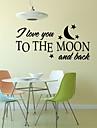 Romantic Modă Forme Cuvinte & Citate Perete Postituri Autocolante perete plane Autocolante de Perete Decorative, Vinil Pagina de decorare
