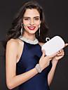Femme Sacs Metallique Sac de soiree Imitation Perle Cristal / strass pour Soiree / Fete Blanc Noir Rose