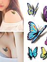 1 Tatueringsklistermärken Djurserier VattentätDam Herr Vuxen Blixttatuering tillfälliga tatueringar