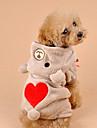 Kat Hond kostuums Hoodies Hondenkleding Beer Grijs Bruin Corduroy Kostuum Voor Lente & Herfst Winter Heren Dames Cosplay