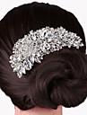 Pentru femei Petrecere Elegant Nuntă, Cristal Argilă Pieptene Păr