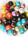 beadia 92g (aprox 200pcs) abs margele perla 10mm rotunde 15 culori de plastic u pick-margele vrac accesorii bijuterii DIY