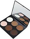 6 farver Pudder Presset pudder Highligthers og bronzers 1 pcs Tør / Kombination / Olieret Vandtæt / Åndbart / Blegende Ansigt Kina Spejl Makeup Kosmetiske