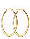 Dame Cercei Rotunzi  La modă costum de bijuterii Oțel titan 18K de aur Circle Shape Oval Shape Bijuterii Pentru Petrecere Zilnic Casual