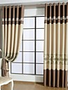Grommet Top Pencil Pleat Two Panels Curtain European , Hollow Out Patchwork Living Room Polyester Material Curtains Drapes Home Decoration