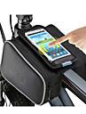 ROSWHEEL Väska till cykelramen Mobilväska 5.0 tum Fuktighetsskyddad Vattentät dragkedja Bärbar Pekskärm Stötsäker Cykelsport för iPhone