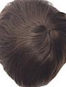 Homme Cheveux humains Postiches Droit Classique 100 % Tissee Main Haute qualite Quotidien