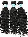 Tissages de cheveux humains Cheveux Indiens Ondulation profonde 3 Pièces tissages de cheveux