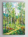 handmålade oljemålning liggande abstrakt våren träd med väg med sträckt ram 7 vägg arts®