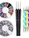 negl Kit negl konst Dekoration Tillbehör negl DIY Akryl Kit
