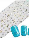 1pcs Nail Smycken Andra dekorationer Helnageltoppar Nail Stamping Mall Dagligen Abstrakt Tecknat Mode Vackert Bröllop Hög kvalitet