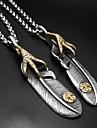Bărbați Dame Coliere cu Pandativ Pandative Oțel titan Pană La modă Argintiu Bijuterii Zilnic 1 pereche