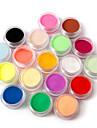 18 pcs Poudre Libre / Poudre acrylique / Poudre Classique Nail Art Design / Nail Art Forms Quotidien