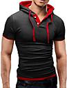 Bărbați Capișon Tricou Sport De Bază - Bloc Culoare