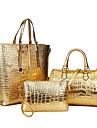 Dam Väskor PU Bärkasse bag set Fodral 3 st. Handväska för Shopping Casual Formell Kontor & Karriär Alla årstider Svart Silver Mörkblå Röd