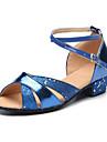 Latin-Pantofi de dans(Albastru / Roșu / Argintiu / Auriu) -Personalizabili-Copii