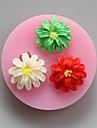 trei flori matrite de ciocolata din silicon, matrite tort, matrite de săpun, unelte de decor bakeware