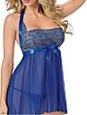 Feminin Lenjerie din Dantelă / Ultra Sexy Pijamale,Subțire Dantelă / Polyester-Sexy / Dantelă Albastru