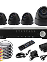 Ultra D1 4CH H.264 en temps réel Kit de vidéosurveillance de haute définition 600TVL DVR (4pcs Jour Nuit Dome caméras CMOS)