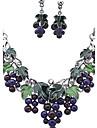 Pentru femei Set bijuterii - Ștras Vintage, European, Modă Include Colier / cercei Culori Asortate Pentru Nuntă / Petrecere / Zilnic / Σκουλαρίκια / Coliere