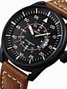 NAVIFORCE สำหรับผู้ชาย นาฬิกาแนวสปอร์ต นาฬิกาทหาร นาฬิกาข้อมือ ญี่ปุ่น นาฬิกาอิเล็กทรอนิกส์ (Quartz) หนัง ดำ / น้ำตาล 30 m กันน้ำ ปฏิทิน noctilucent ระบบอนาล็อก ไม่เป็นทางการ - สีดำ สีน้ำตาล / สองปี