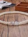 Margele Elastic Nuntă Party / Seara Cercevea With Imitație de Perle Pentru femei Panglici