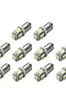 10pcs BA9S Automatique Ampoules electriques 1 W SMD 5050 120 lm 5 LED Clignotants For Universel